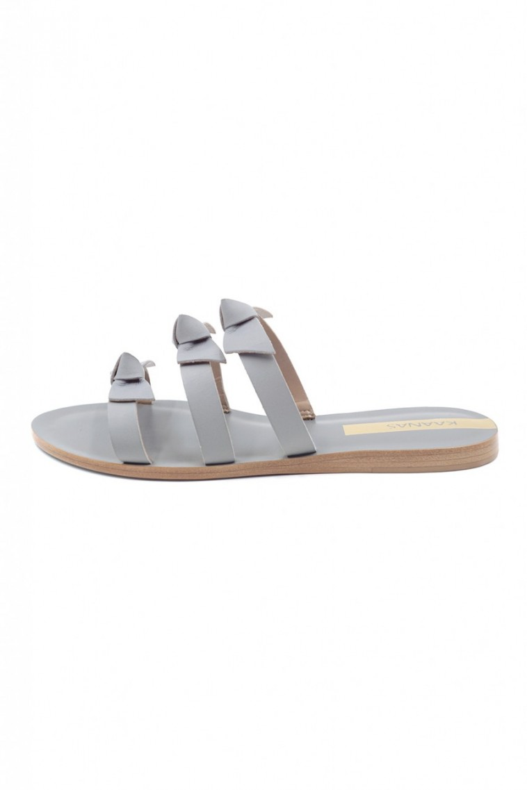 Kaanas Recife Bow Sandals in Gray