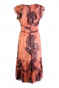 Ulla Johnson Akira Dress in Coral