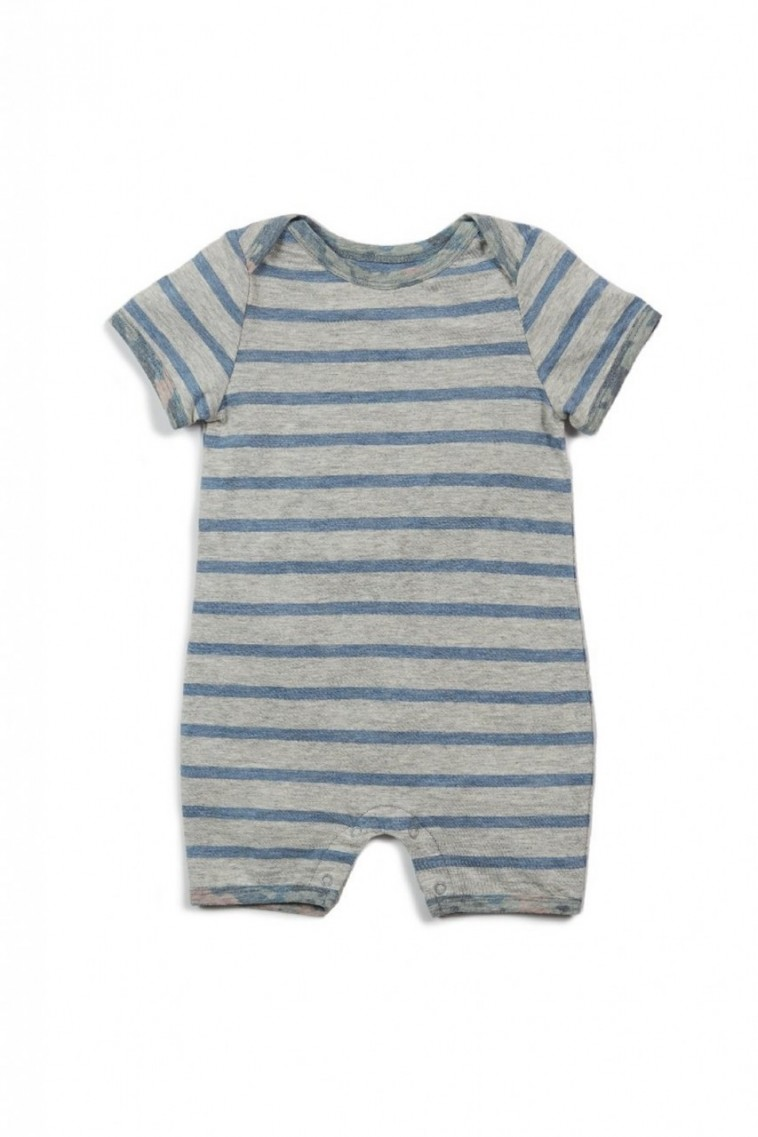 Egg James Romper in Blue Stripe