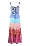Saloni Karen Dress in Rainbow