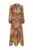 Zimmermann Riders Long Dress in Mango Floral