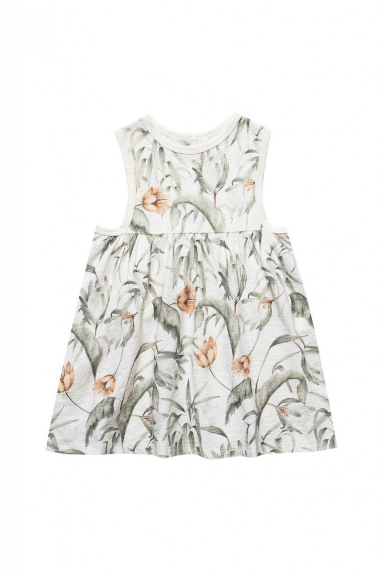 Rylee + Cru Tropical Layla Mini Dress in Coconut