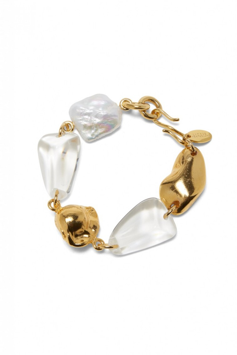 Lizzie Fortunato Beach Stroll Bracelet in Clear